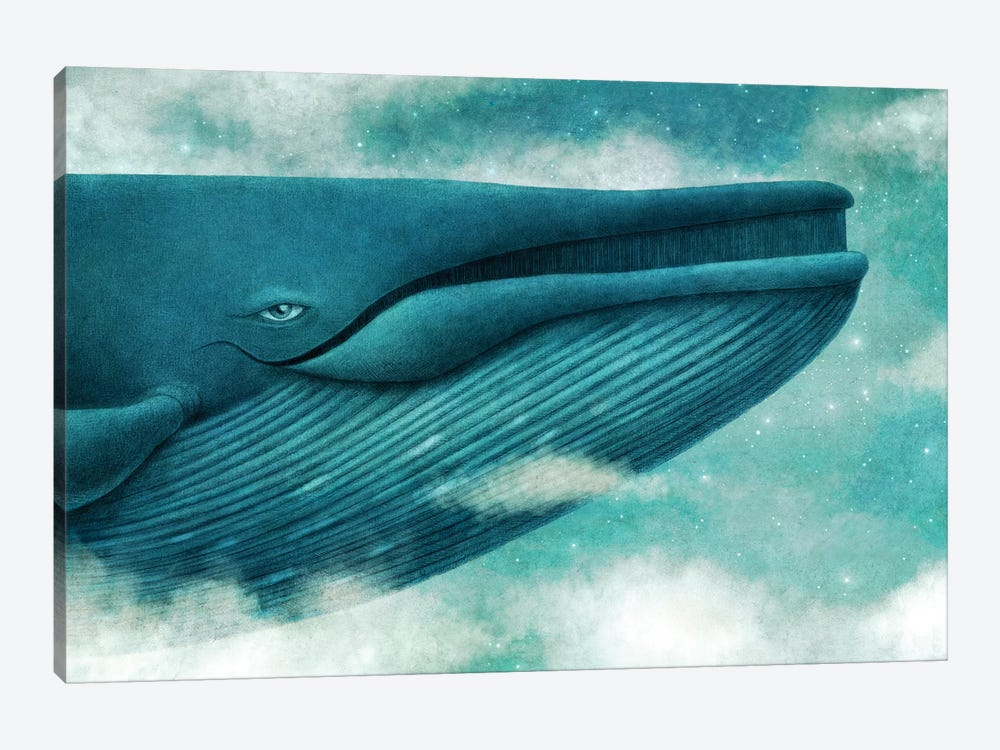 Dream Of The Blue Whale by Terry Fan 1-piece Canvas Art Print