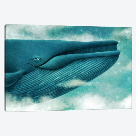 Dream Of The Blue Whale 3-Piece Canvas #TFN259} by Terry Fan Canvas Wall Art