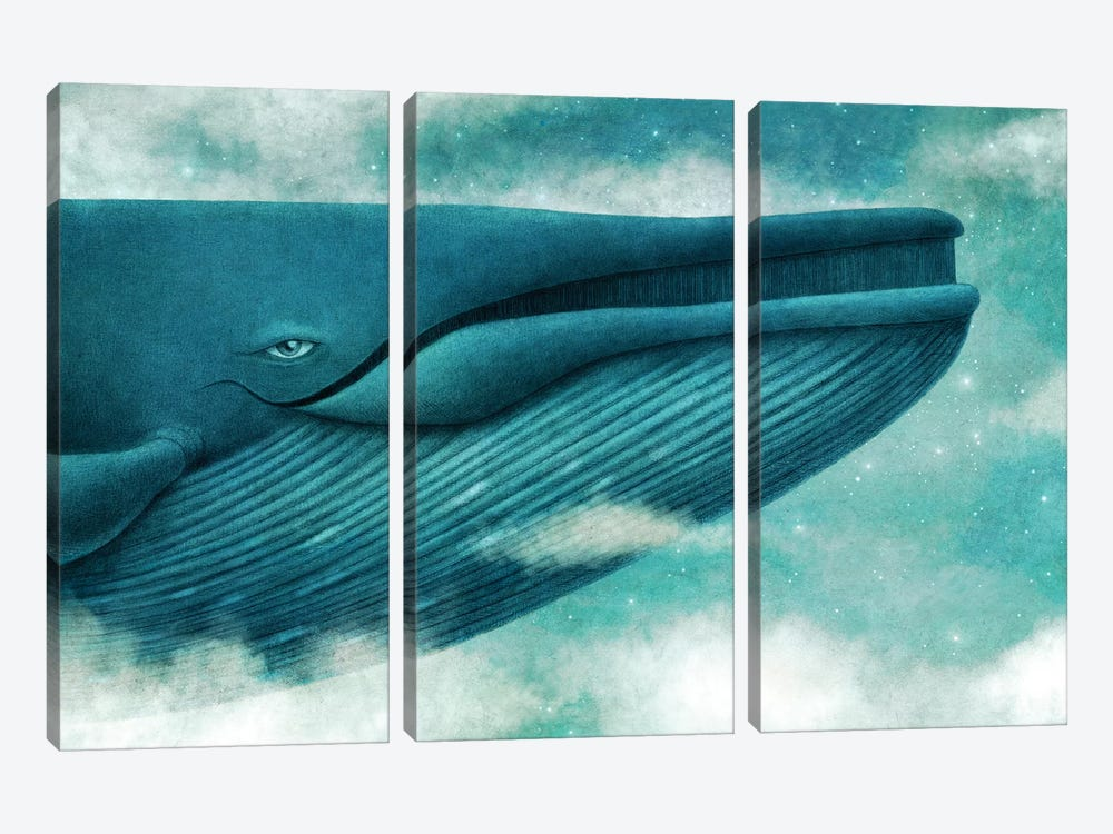 Dream Of The Blue Whale by Terry Fan 3-piece Canvas Print