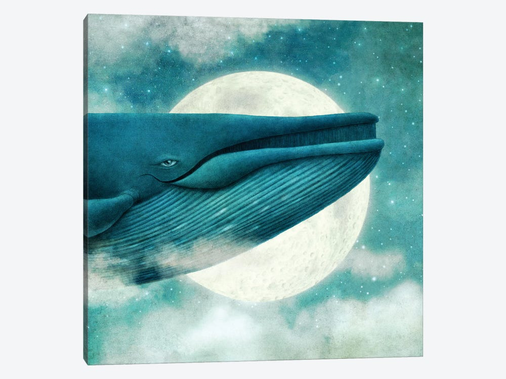 Dream Of The Blue Whale Square by Terry Fan 1-piece Canvas Art Print