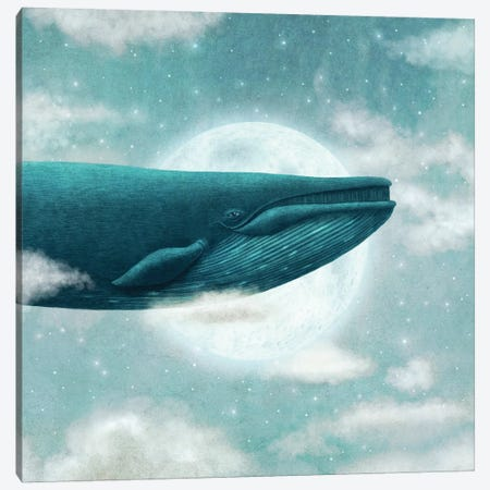 In The Clouds Square Canvas Print #TFN263} by Terry Fan Canvas Print