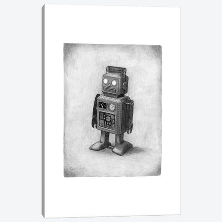 Lonely Robot Canvas Print #TFN264} by Terry Fan Canvas Wall Art