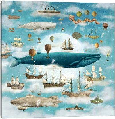 Ocean Meets Sky Square #3 Canvas Art Print