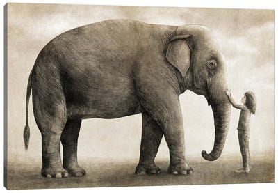 One Amazing Elephant Canvas Art Print