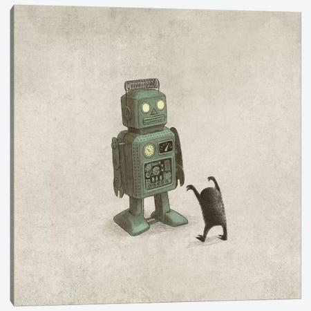 Robot Vs. Alien Canvas Print #TFN273} by Terry Fan Canvas Wall Art