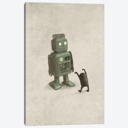 Robot Vs. Alien Portrait Canvas Print #TFN274} by Terry Fan Canvas Print
