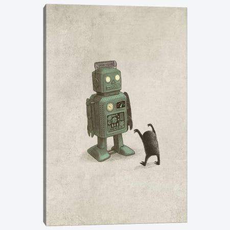 Robot Vs. Alien Portrait Canvas Print #TFN274} by Terry Fan Canvas Print