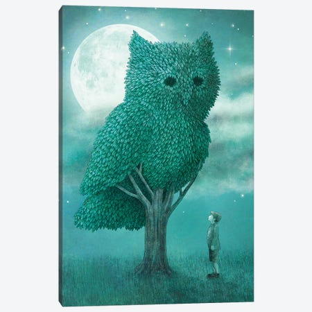 The Night Gardener 3-Piece Canvas #TFN276} by Terry Fan Art Print