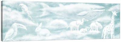 Cloud Animal Endpapers II Canvas Art Print