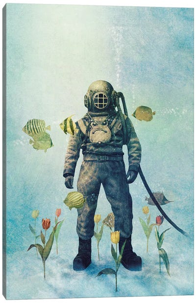Deep Sea Garden III Canvas Art Print