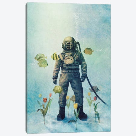 Deep Sea Garden III Canvas Print #TFN290} by Terry Fan Canvas Wall Art