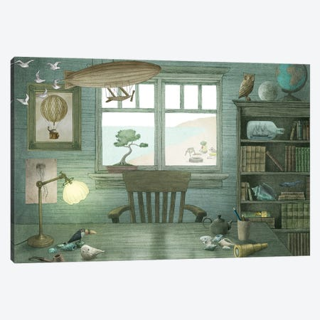 Grandpa's Study Canvas Print #TFN298} by Terry Fan Canvas Wall Art