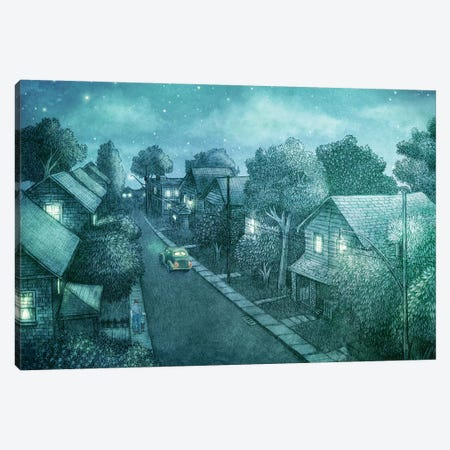 Grimloch Lane Night Canvas Print #TFN299} by Terry Fan Canvas Artwork
