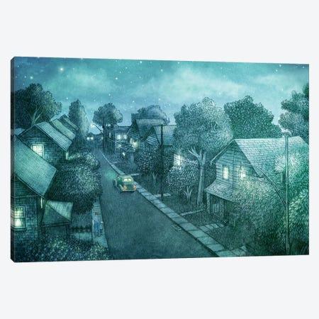 Grimloch Lane Night Canvas Print #TFN299} by Terry Fan Canvas Artwork