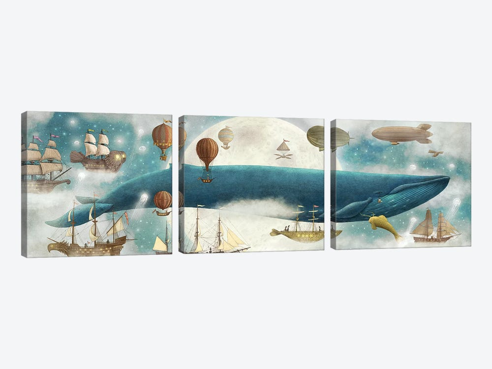In The Clouds II by Terry Fan 3-piece Canvas Art Print
