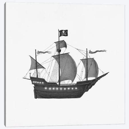 Jolly Roger Canvas Print #TFN303} by Terry Fan Canvas Artwork