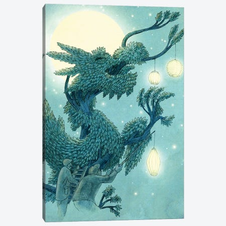 Lighting The Dragon Tree Canvas Print #TFN306} by Terry Fan Canvas Art Print