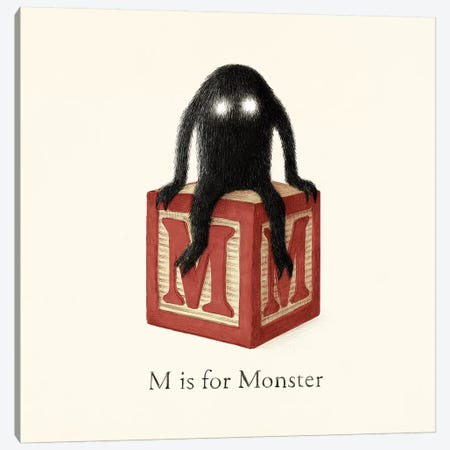 M Is For Monster I Canvas Print #TFN308} by Terry Fan Canvas Artwork