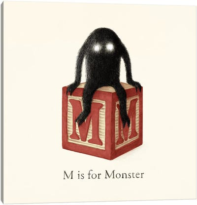 M Is For Monster I Canvas Art Print