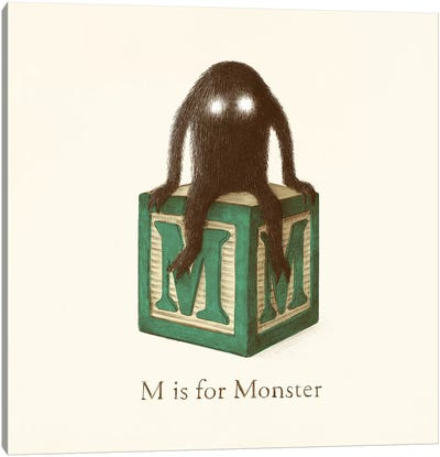 M Is For Monster II Canvas Art Print