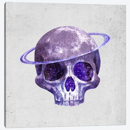 Cosmic Skull Canvas Print #TFN35} by Terry Fan Art Print