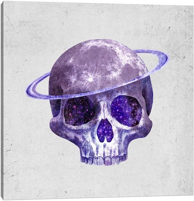 Cosmic Skull Canvas Art Print
