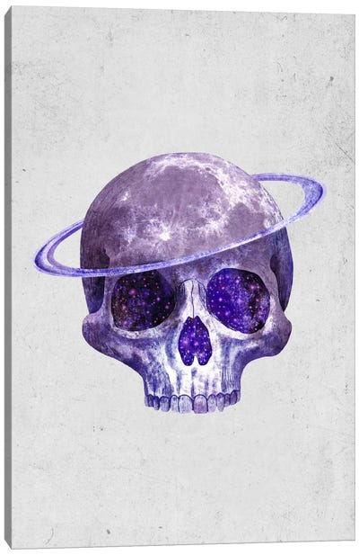 Cosmic Skull Portrait Canvas Print #TFN36
