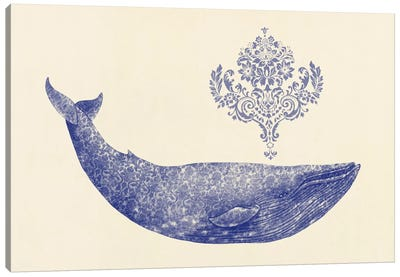 Damask Whale #1 Canvas Art Print
