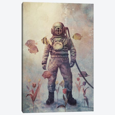 Deep Sea Garden #2 Canvas Print #TFN43} by Terry Fan Canvas Print