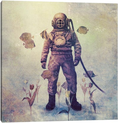 Deep Sea Garden Square #1 Canvas Print #TFN44