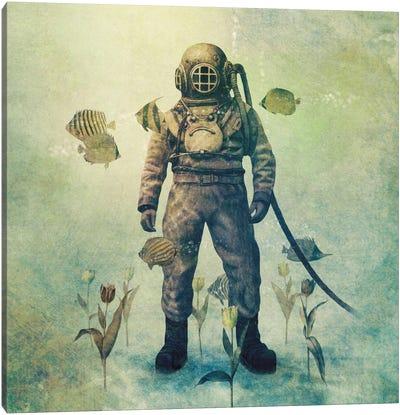 Deep Sea Garden Square #2 Canvas Print #TFN45