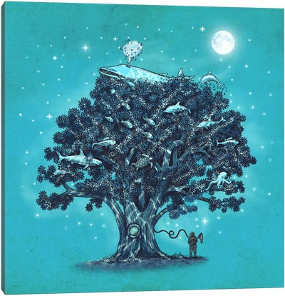 Deep Tree Diving Canvas Art Print