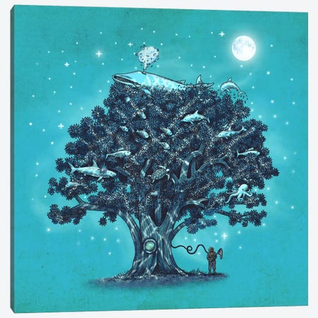 Deep Tree Diving Canvas Print #TFN46} by Terry Fan Canvas Art
