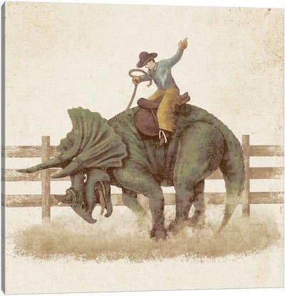 Dino Rodeo Canvas Print #TFN47