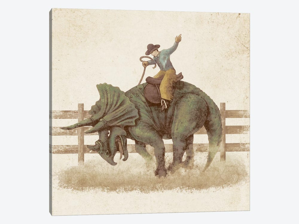 Dino Rodeo by Terry Fan 1-piece Canvas Art