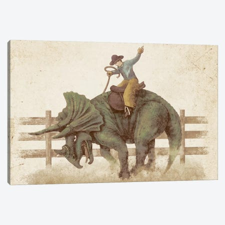 Dino Rodeo Landscape Canvas Print #TFN48} by Terry Fan Canvas Print