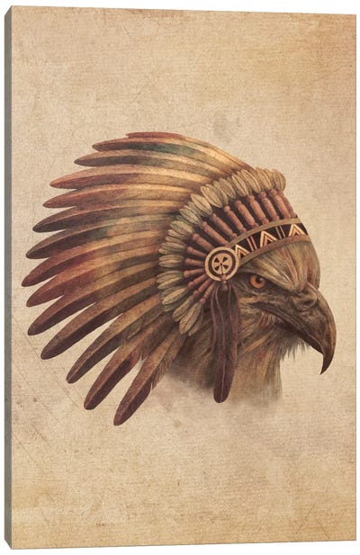 Eagle Chief Portrait #1 Canvas Art Print