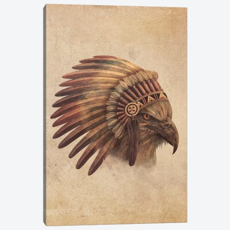 Eagle Chief Portrait #1 Canvas Print #TFN54} by Terry Fan Art Print
