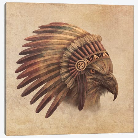 Eagle Chief #2 Canvas Print #TFN55} by Terry Fan Canvas Art Print