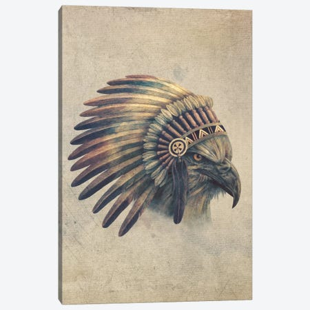 Eagle Chief Portrait #2 Canvas Print #TFN56} by Terry Fan Art Print