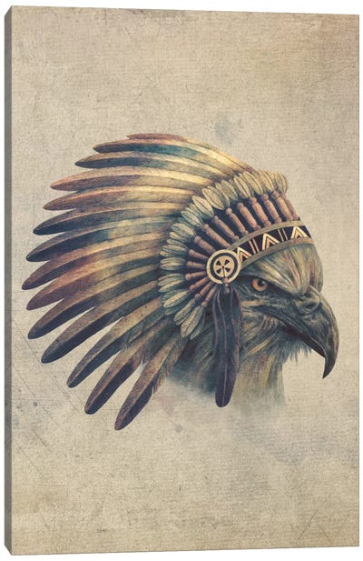 Eagle Chief Portrait #2 Canvas Art Print