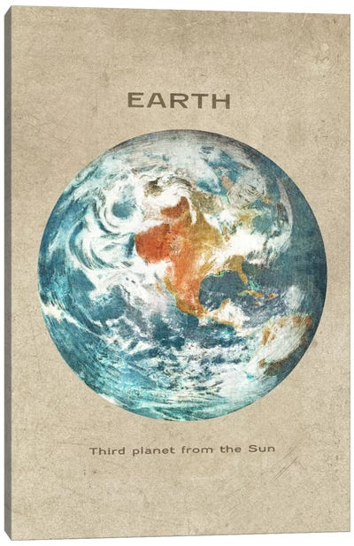 Earth Portrait Canvas Art Print
