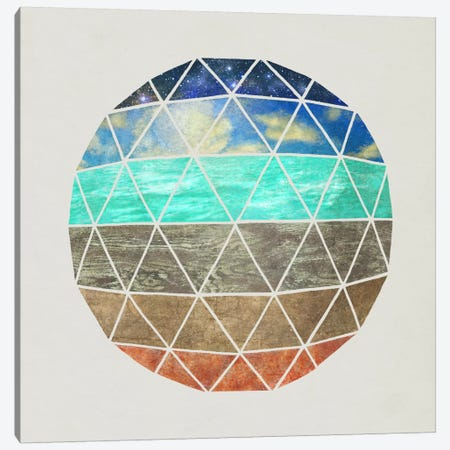 Elemental Geodesic Canvas Print #TFN61} by Terry Fan Art Print