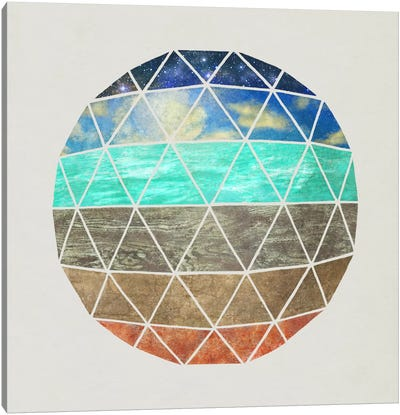 Elemental Geodesic Canvas Art Print