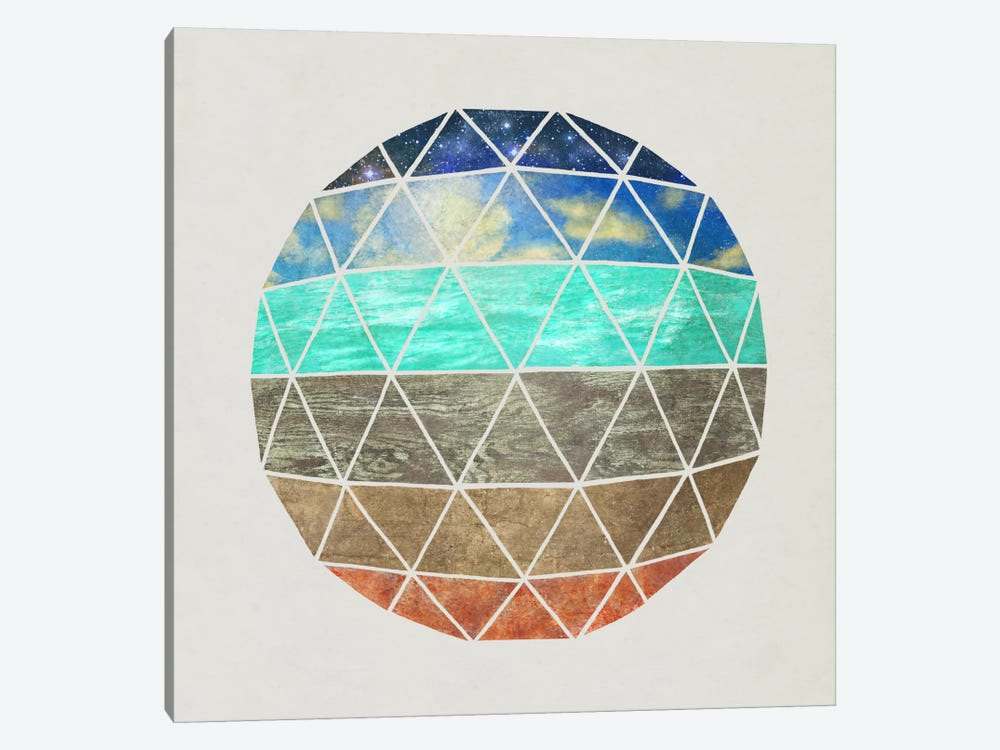 Elemental Geodesic by Terry Fan 1-piece Canvas Art