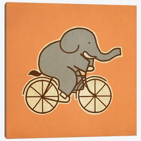 Elephant Cycle #1 Canvas Print #TFN62} by Terry Fan Art Print