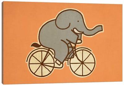 Elephant Cycle Landscape #1 Canvas Art Print