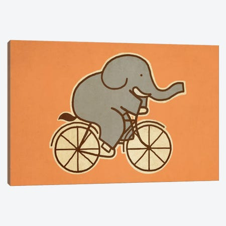 Elephant Cycle Landscape #1 Canvas Print #TFN63} by Terry Fan Art Print