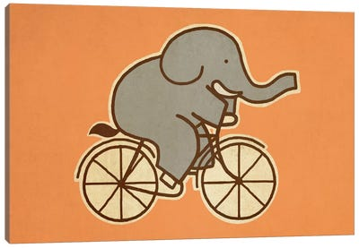 Elephant Cycle Landscape #1 Canvas Art Print