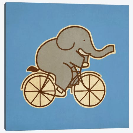 Elephant Cycle #2 Canvas Print #TFN64} by Terry Fan Canvas Wall Art